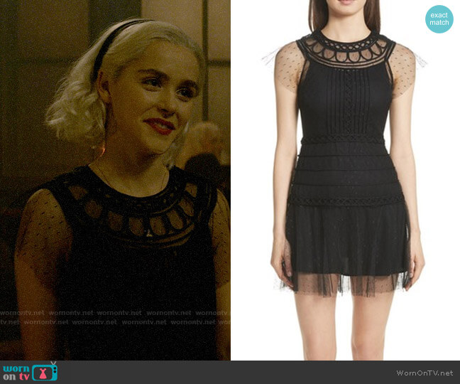 RED Valentino Point D'Esprit Dress worn by Sabrina Spellman (Kiernan Shipka) on Chilling Adventures of Sabrina