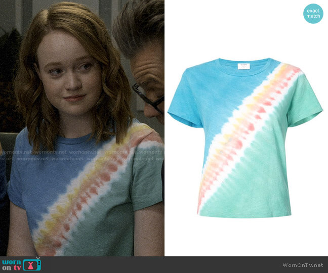 Re/Done Freedom Tie Dye Tee worn by Abby Hammond (Liv Hewson) on Santa Clarita Diet
