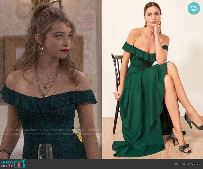 Reformation Verbena Dress worn by Shannon (Odessa Adlon) on Fam