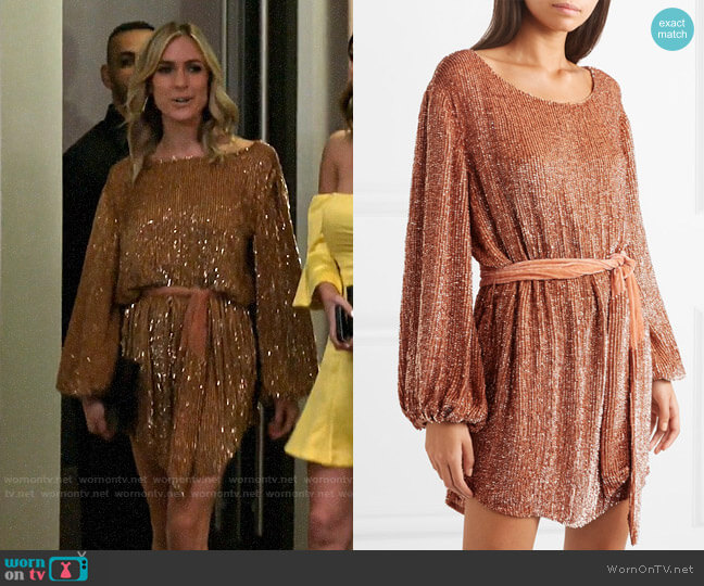 Retrofete Grace Dress in Bronze worn by Kristin Cavallari  on Very Cavallari