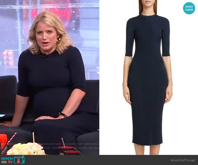 Rib Knit Dress by Victoria Beckham worn by Sara Haines  on Good Morning America