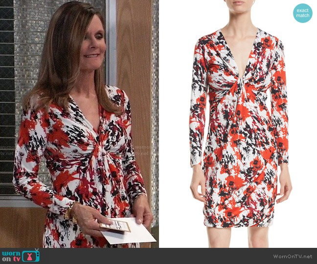 Roberto Cavalli Thistle Dress worn by Lucy Coe (Lynn Herring) on General Hospital