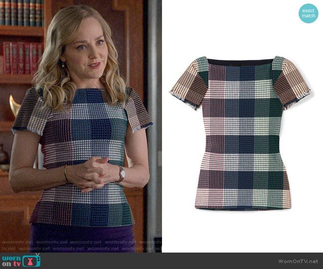 Roland Mouret Clarke Top worn by Marissa Morgan (Geneva Carr) on Bull