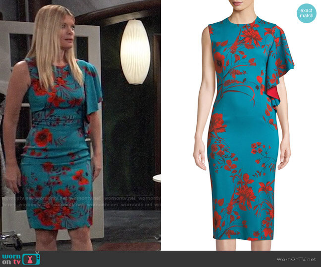 Sachin + Babi April Dress worn by Nina Reeves (Michelle Stafford) on General Hospital