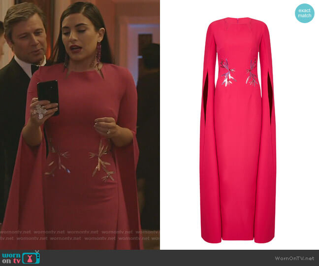 Talin Dress by Safiyaa worn by Cristal Jennings (Ana Brenda Contreras) on Dynasty