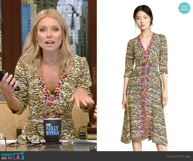 Eve Dress by Saloni worn by Kelly Ripa  on Live with Kelly & Ryan