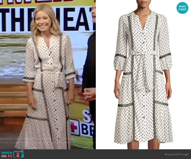 Sandrelli Dress by Shoshanna worn by Kelly Ripa  on Live with Kelly & Ryan