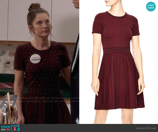 Sandro Montaigne Studded Knit Dress worn by Beth Hennick (Emily Pendergast) on Veep