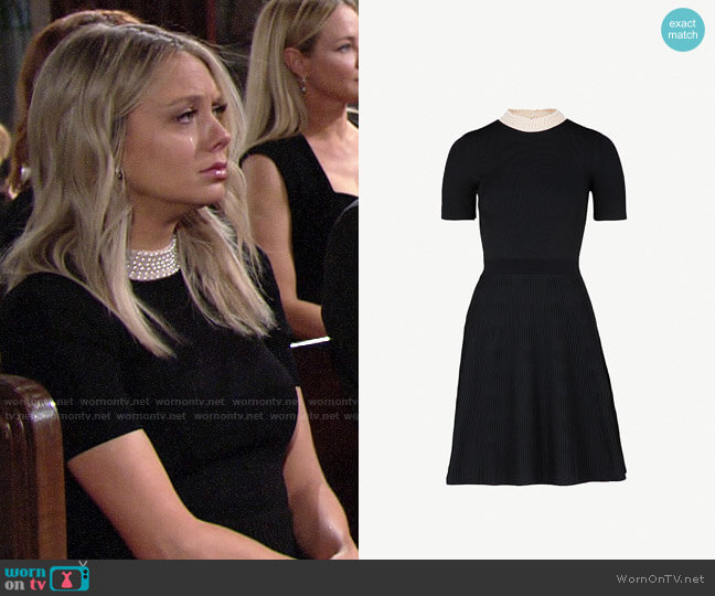 Sandro High Neck Dress worn by Abby Newman (Melissa Ordway) on The Young & the Restless