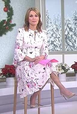 Savannah's white floral keyhole dress on Today