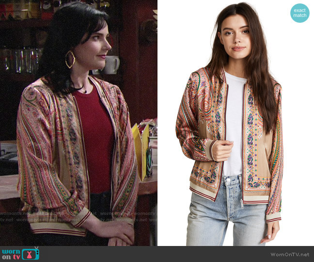 Scotch & Soda Twill Bomber Jacket worn by Tessa Porter (Cait Fairbanks) on The Young & the Restless