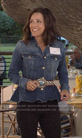 Selina's peplum denim jacket on Veep