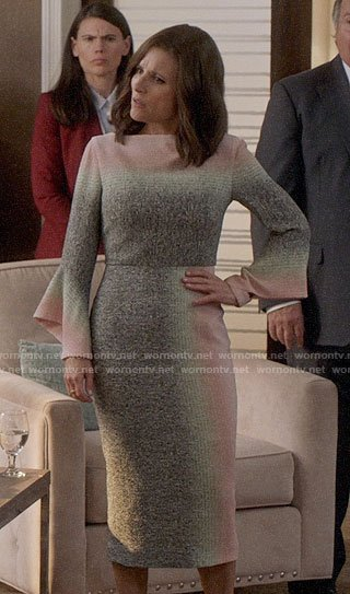 Selina's pastel ombre dress on Veep