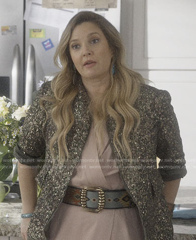 Sheila's sequin jacket on Santa Clarita Diet