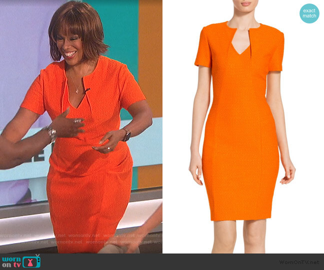 Ribbon Texture Knit Dress by St. John worn by Gail King on The Talk