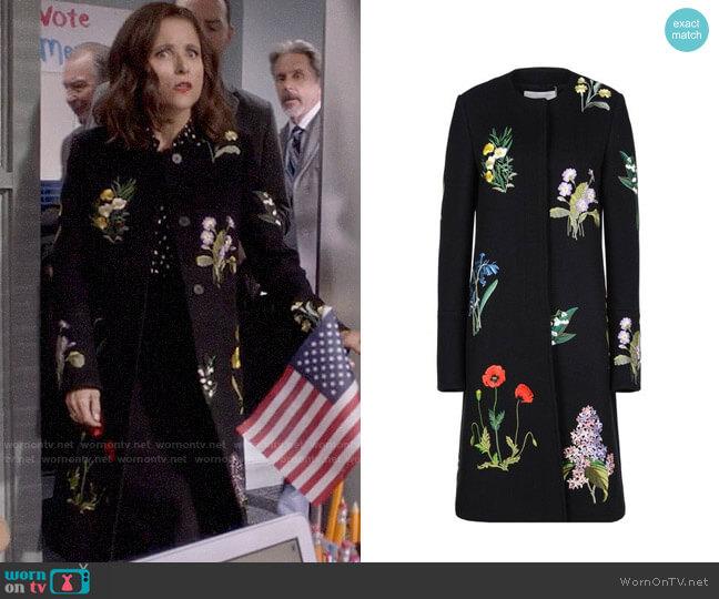Stella McCartney Nadia Coat worn by Selina Meyer (Julia Louis-Dreyfus) on Veep