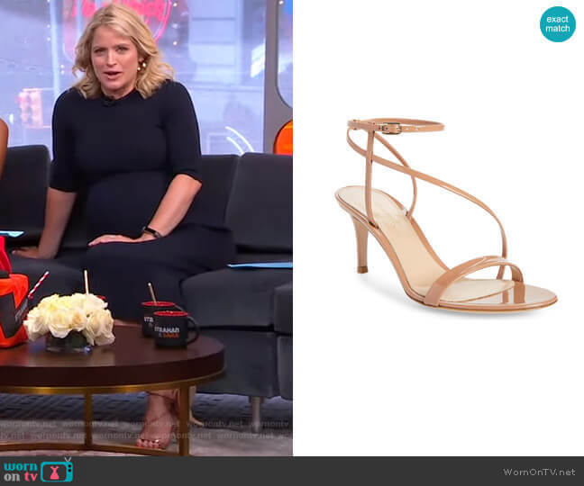 Strappy Sandal by Gianvito Rossi worn by Sara Haines  on Good Morning America