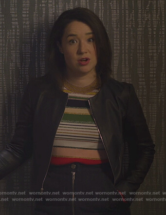 Marissa's striped sweater on The Good Fight