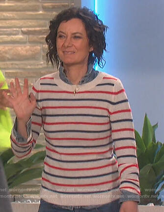 Sara's striped sweater on The Talk