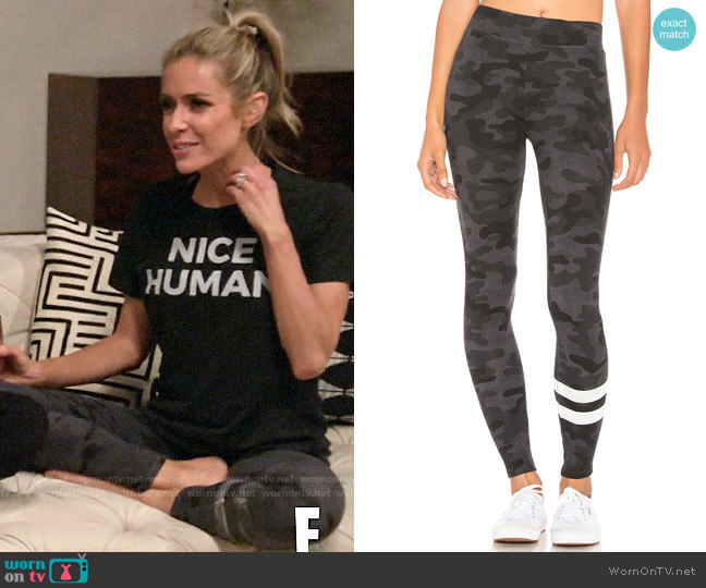 Sundry Stripes Camo Yoga Pants worn by Kristin Cavallari  on Very Cavallari