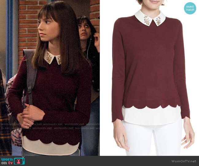 Ted Baker Suzaine Sweater worn by Molly (Lauren Lindsey Donzis) on No Good Nick