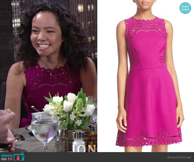 Ted Baker Verony Dress worn by Mattie Ashby (Lexie Stevenson) on The Young & the Restless