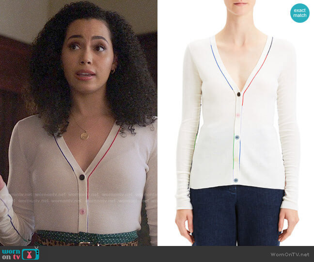 Theory Multi Color Cardigan worn by Macy Vaughn (Madeleine Mantock) on Charmed