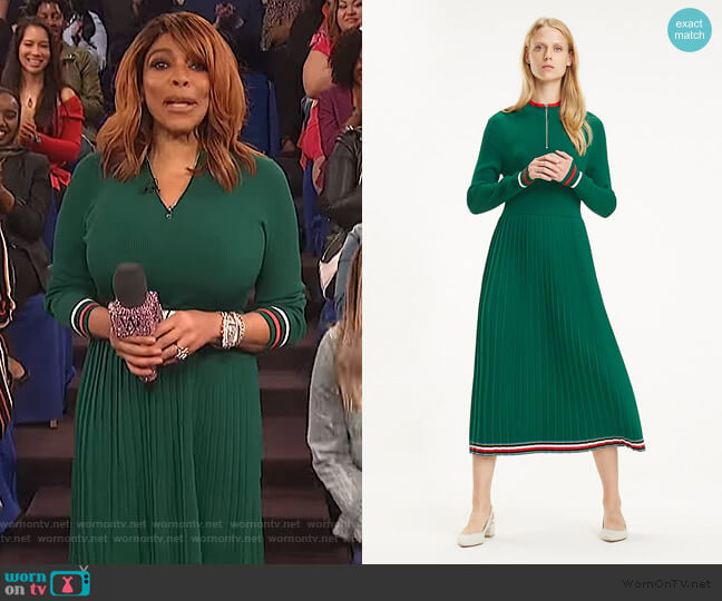 Pleated Midi Dress by Tommy Hilfiger worn by Wendy Williams  on The Wendy Williams Show