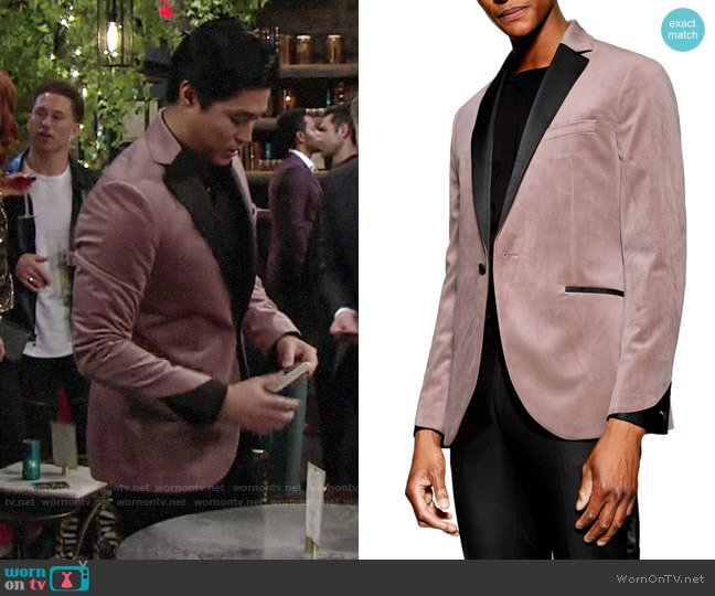 Topman Velvet Dinner Jacket worn by Ted on The Young and the Restless
