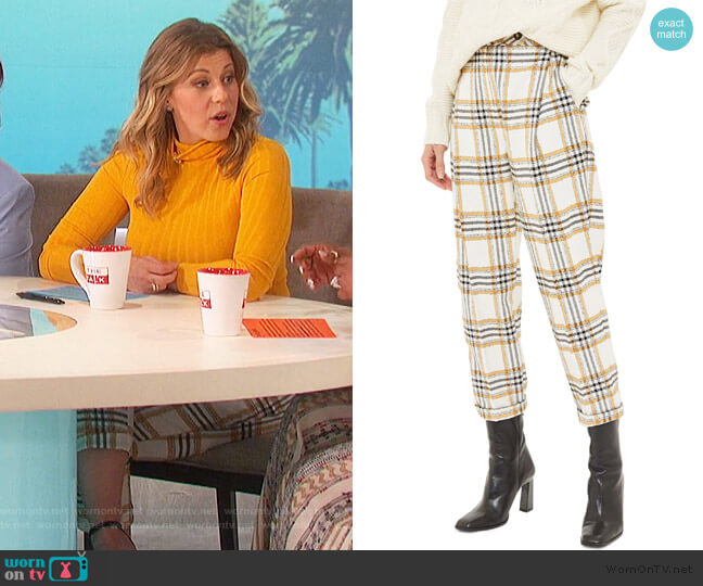 Three Button Tapered Trousers by Topshop worn by Jodie Sweetin on The Talk