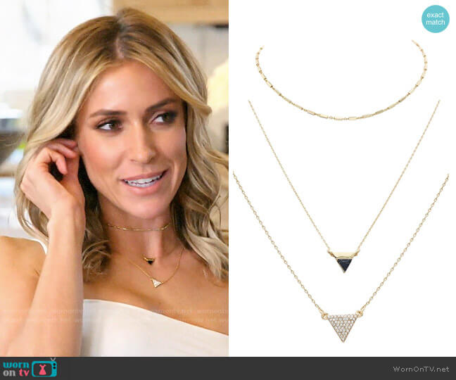 Uncommon James Better on You, Stormy, and Houston Station Necklace worn by Kristin Cavallari  on Very Cavallari