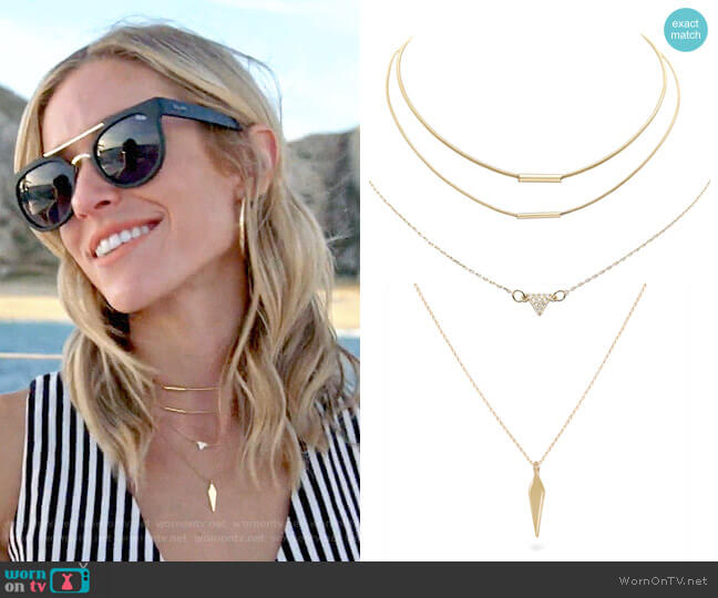 Uncommon James Tennessee, Gulch, and To The Point Necklaces worn by Kristin Cavallari  on Very Cavallari