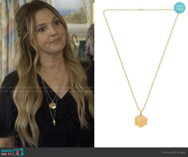 Vanessa Mooney The Valentina Locket Necklace  worn by Sheila Hammond (Drew Barrymore) on Santa Clarita Diet