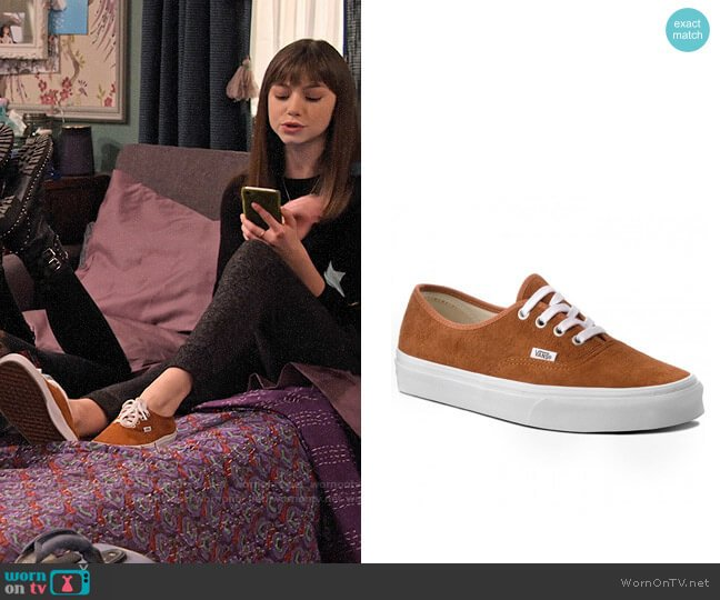 Vans Authentic Pig Suede Sneakers worn by Molly (Lauren Lindsey Donzis) on No Good Nick