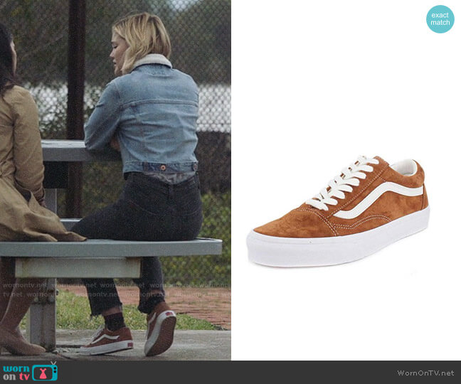 Vans Old Skool Sneakers in Pig Suede worn by Tandy Bowen (Olivia Holt) on Cloak & Dagger