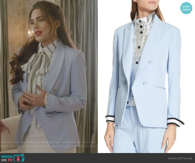 Aros Dickey Jacket by Veronica Beard worn by Cristal Jennings (Daniella Alonso) on Dynasty
