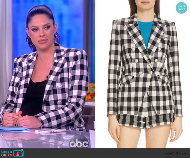 Miller Gingham Dickey Jacket by Veronica Beard worn by Abby Huntsman  on The View