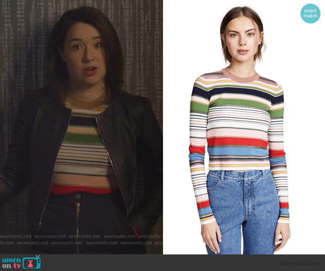 Palmas Sweater by Veronica Beard worn by Marissa Gold (Sarah Steele) on The Good Fight