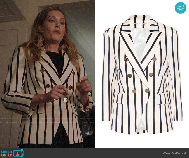 Veronica Beard Empire striped dickey blazer by Veronica Beard worn by Sutton (Meghann Fahy) on The Bold Type