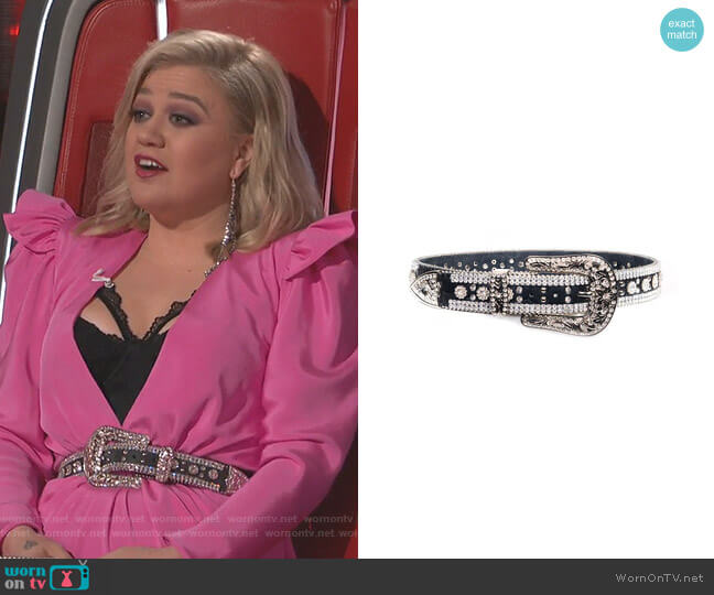Flower Belt by Veronica Beard worn by Kelly Clarkson  on The Voice