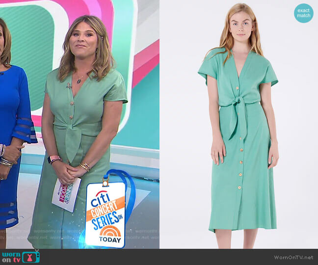 Giana Dress by Veronica Beard worn by Jenna Bush Hager  on Today