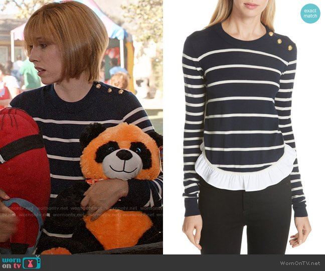 Veronica Beard Ollie Sweater worn by Catherine Meyer (Sarah Sutherland) on Veep