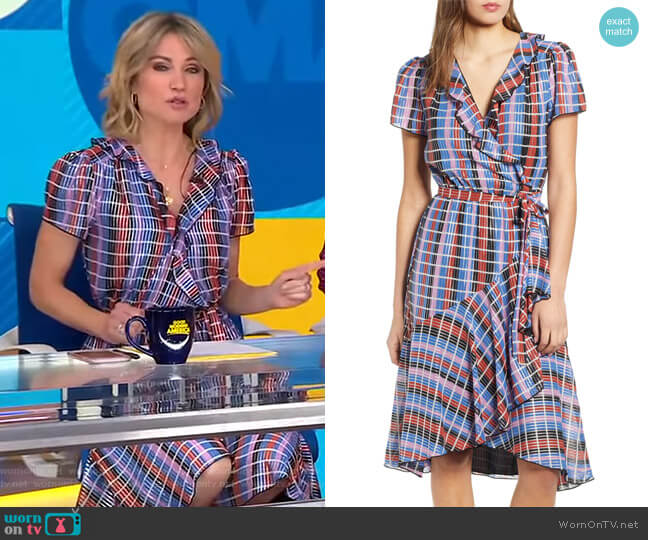 Sutton Dress by Wayf worn by Amy Robach  on Good Morning America