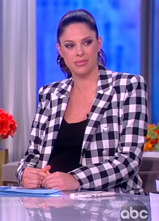 Abby's gingham check blazer on The View