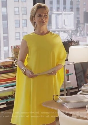 Jacqueline's yellow asymmetric dress on The Bold Type