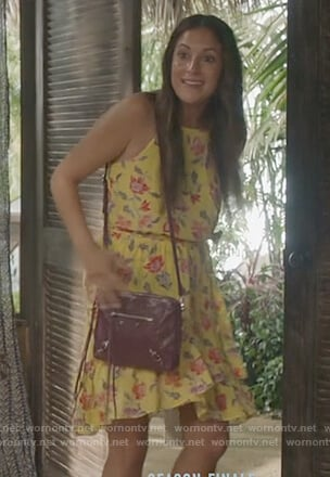 Colleen's yellow floral dress on Life in Pieces