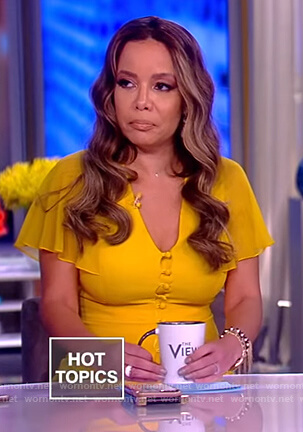 Sunny's yellow button down dress on The View