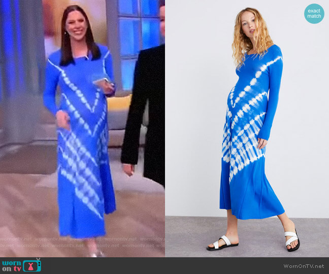 Tie Dye Knit Dress by Zara worn by Abby Huntsman (Abby Huntsman) on The View