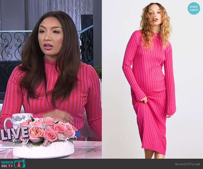 Two Tone Knit Dress by Zara worn by Jeannie Mai  on The Real