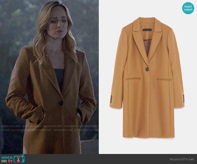 Zara Masculine Coat worn by Sara Lance (Caity Lotz) on Arrow